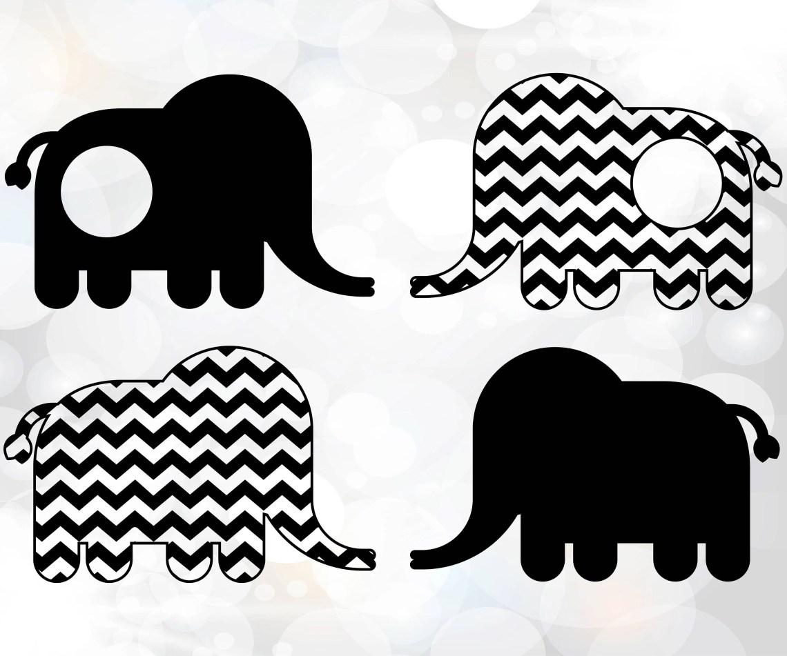 Download Elephant Monogram SVG Elephant Monogram SVG Cricut | Etsy