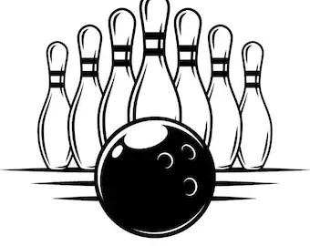 Download Bowling pin svg | Etsy