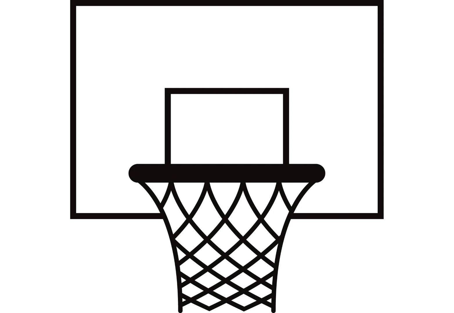 Basketball Hoop 1 Backboard Goal Rim Basket Net Sports
