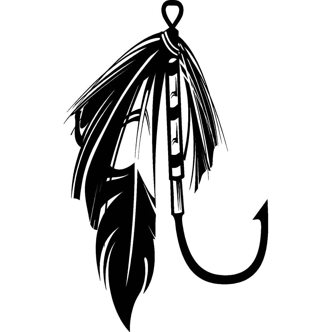 Fishing Lure 2 Hook Fisherman Logo 3 Prong Angling Fish
