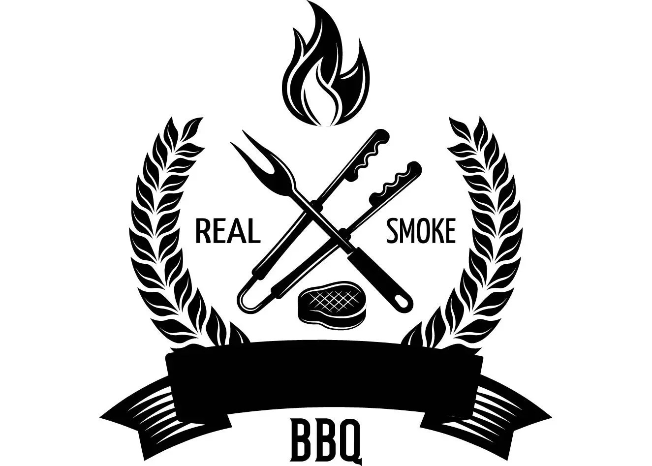 Bbq Logo 17 Grill Grilling Tongs Meat Steak Barbecue