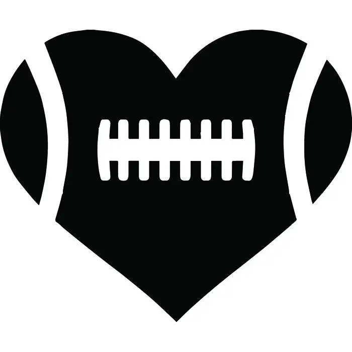 Silhouette Art Laces Clip Football