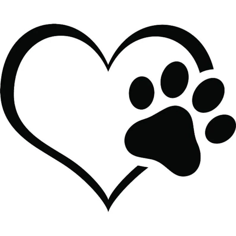 Download Paw Print 3 Heart Love Dog Puppy Cat Kitten Animal ...