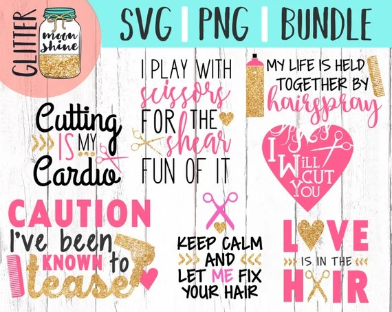 Download Hair Stylist Bundle svg png cutting files for silhouette ...