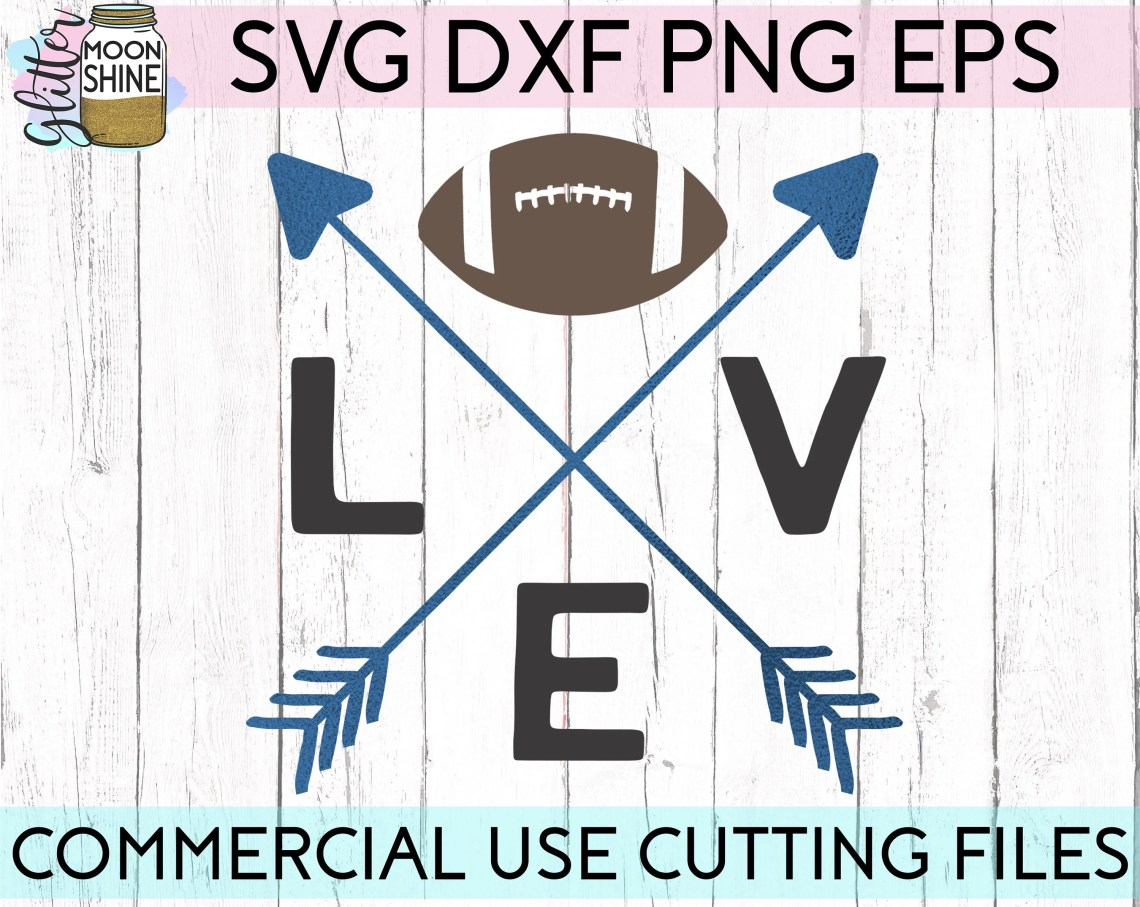 Download Football Love svg eps png dxf cutting files for silhouette ...