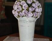 Painted pale of purple ro...