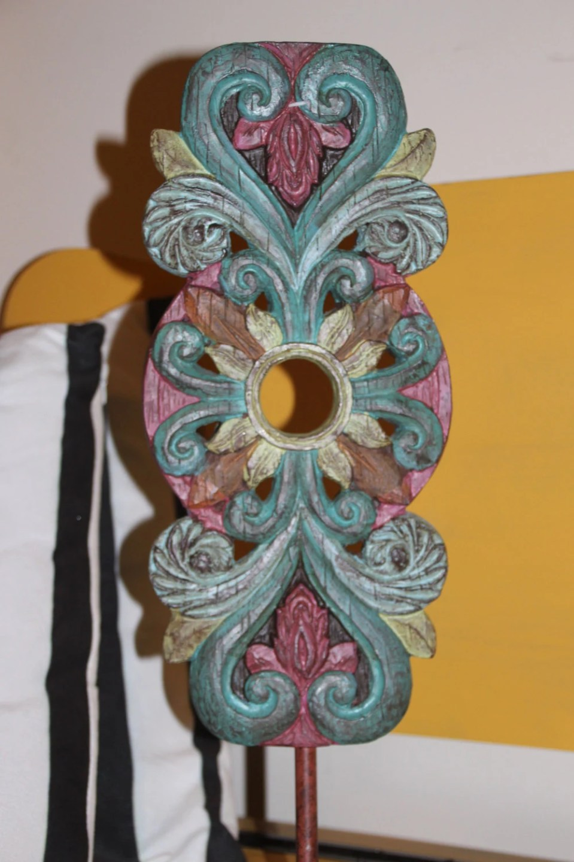 Wooden boho accent piece