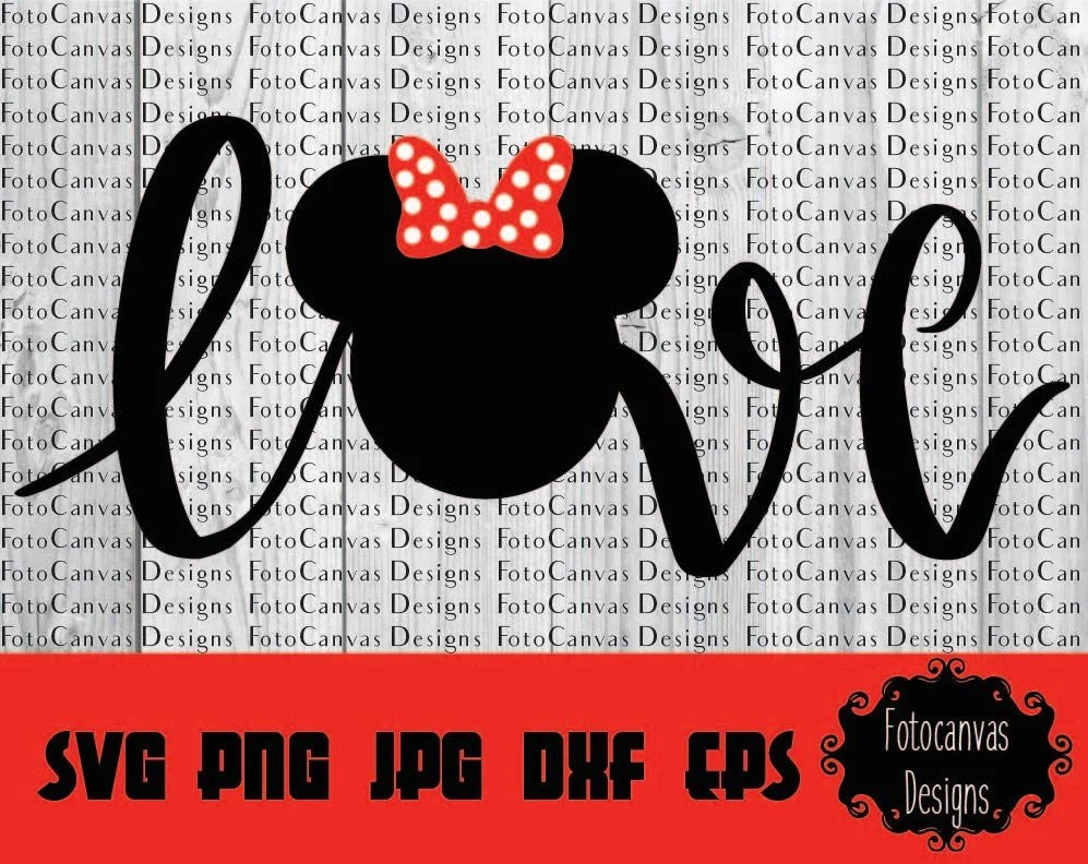 Download Disney SVG Minnie Mouse Minnie Head Bow Love Disneyland