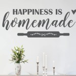 Happiness Is Homemade Decal Kitchen Decal Kitchen Decor