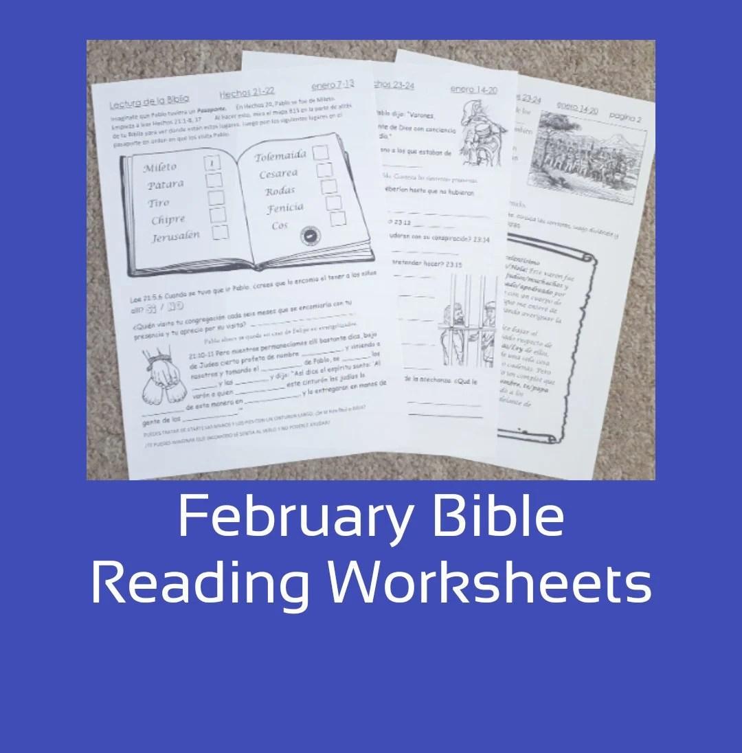 February Bible Reading Jw Worksheets For 6 13yo