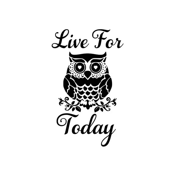 Download Live For Today, silhouette svg, cameo svg, cricut svg, owl ...