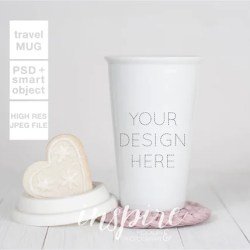 Travel Ceramic Mug Mockup Psd Smart Object Layer Cookie Etsy