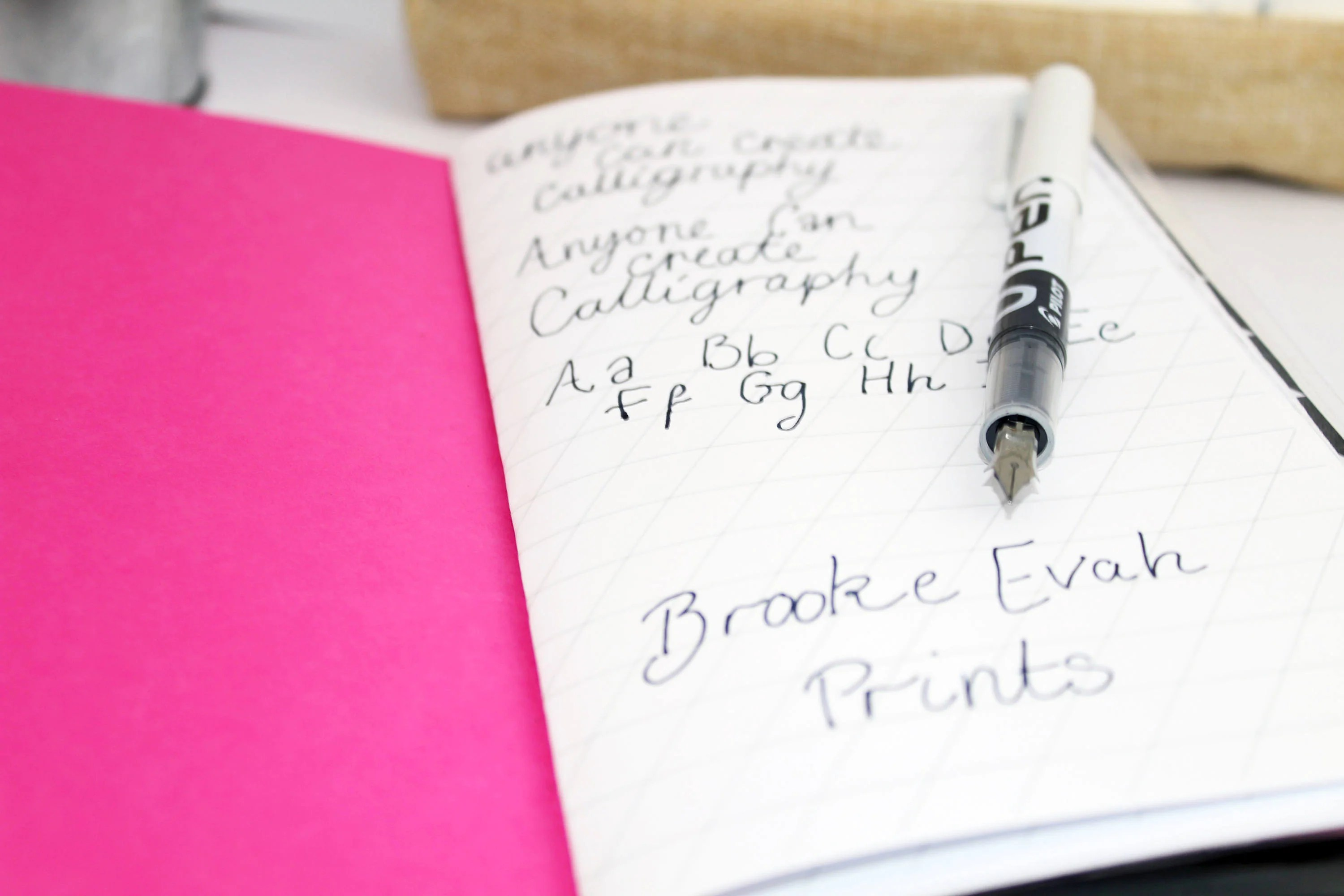 Calligraphy Notebook Hand Lettering Calligraphy Worksheet