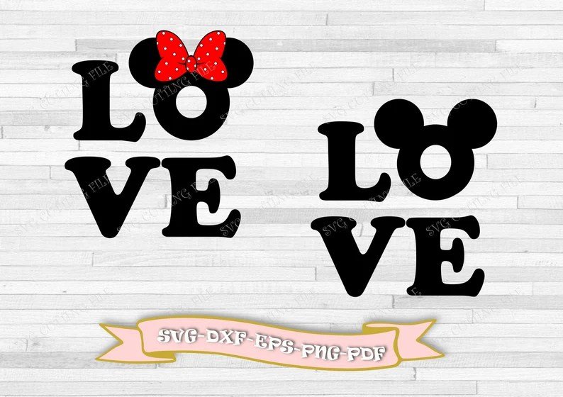 Download Mickey Mouse love svg and Minnie Mouse love svg clip art ...