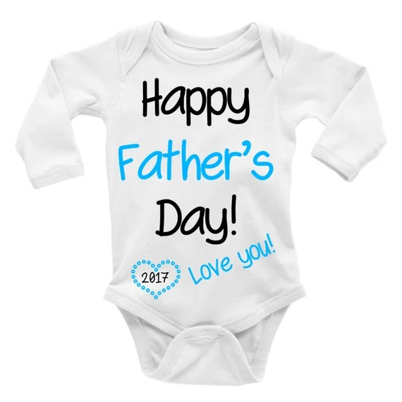Happy Fathers Day 2019 Love You Custom Name Bodysuit Personalized Gift Baby Creeper Custom Bodysuit Mothers Day Baby Suit Boy Girl