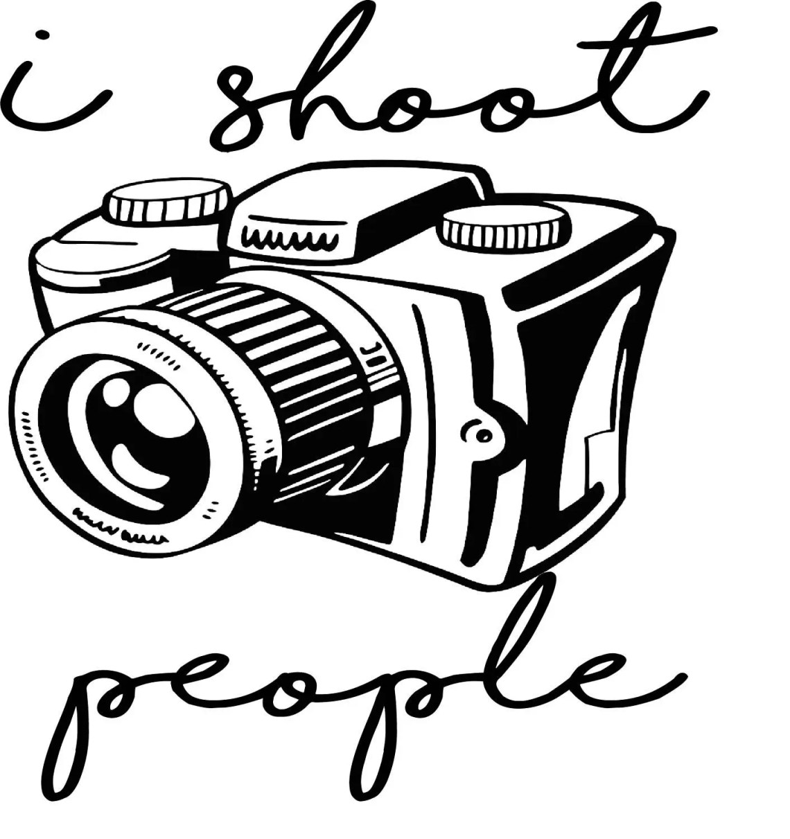 Download I Shoot People Camera SVG Digital Download | Etsy