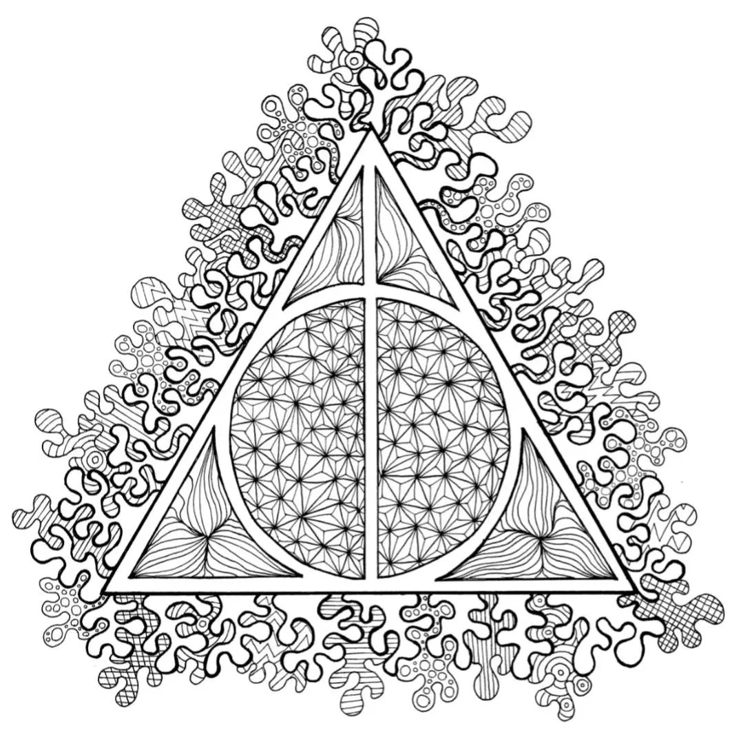 Harry Potterly Hallows Coloring Page