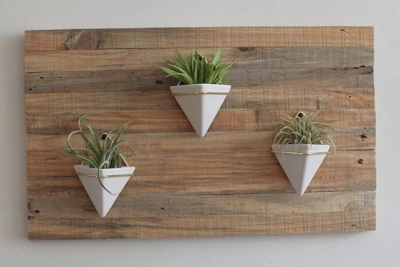 Geometric Succulent Wall Planter Indoor Wall Planter Made Etsy