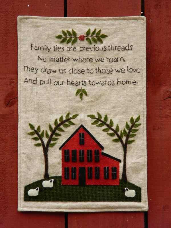 Family Ties Sampler Pattern | Etsy