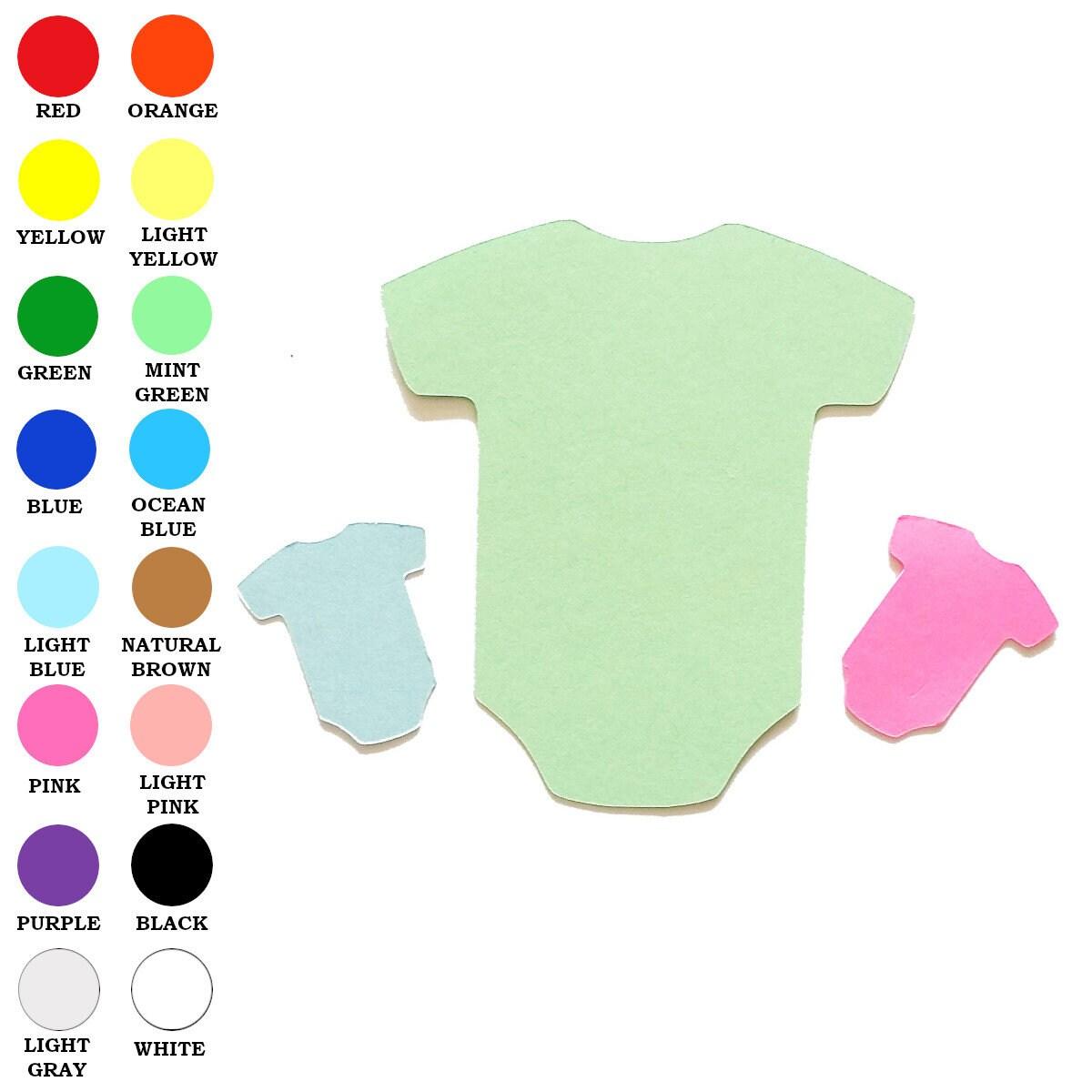 25 Pack Paper Onesie Shape Baby Onesie Shapes Onesie Paper