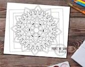 Printable Mandala Adult Coloring Page, Instant download, Adult Colouring Page, Printable Adult Coloring Book Page