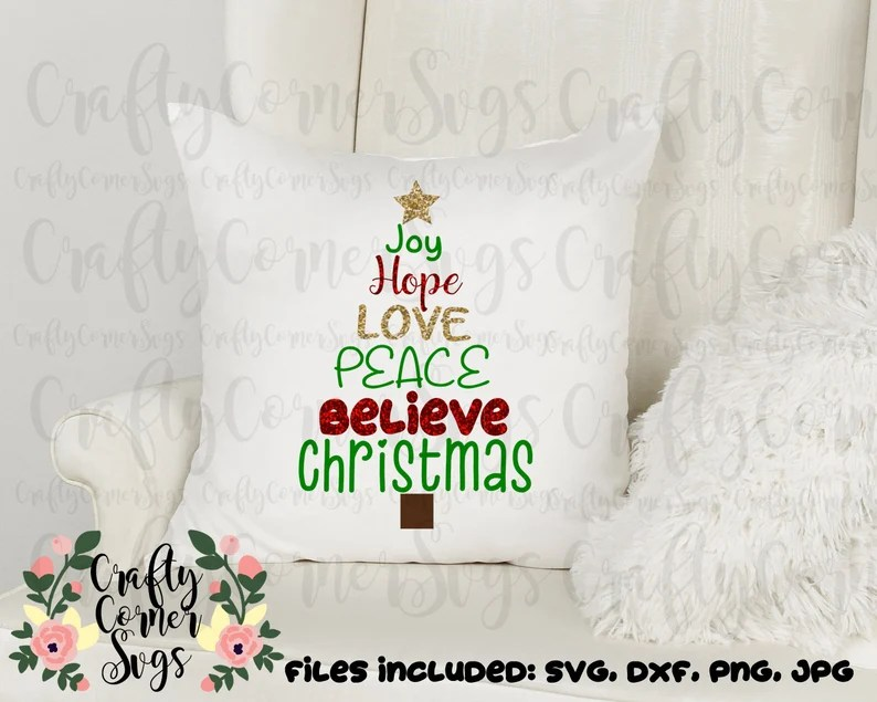 Download SVG-Joy-Hope-Love-Peace-Believe-Christmas-holiday-tshirt ...