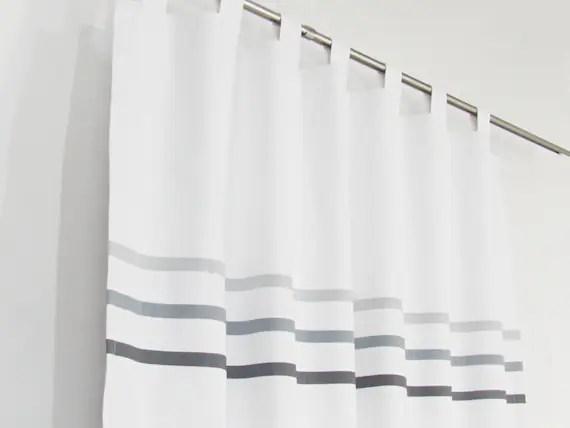 white gray minimalist curtains modern bedroom curtain panel light dark grey stripes custom made white drapes scandinavian white curtain