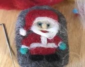 Handcrafted Felted Artisan Soap - Santa Claus