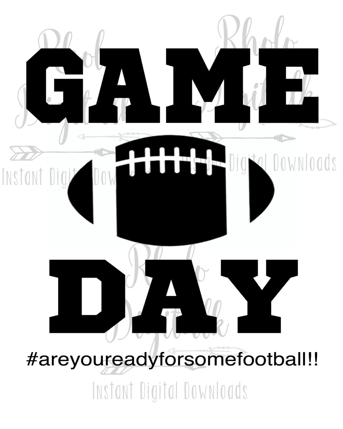 Download Game day are you ready for some football svg-Instant ...