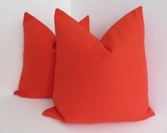 red orange pillow etsy