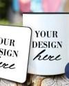 Mug Coaster Mockup Etsy