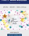 Birthday Party Mug Mockup 11oz Coffee Mug Mockup On Confetti Etsy