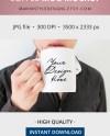 11oz Masculine Mug Mockup Man Holding Mug Stock Photo Male Etsy