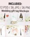 Gift Tag Mockup Bundle Wedding Tag Mockup Bundle Photoshop Etsy