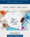 White Summer Tshirt Mockup Unisex Beach T Shirt Mockup Etsy