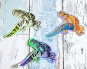 Aroace Pride multipack - 3 Gecko Large Holo Stickers - Subtle grsd / gsd / lgbtqia+ Pride Flag, leopard gecko pride holographic vinyl decal