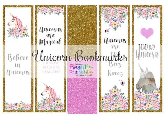printable unicorn bookmarks # 32