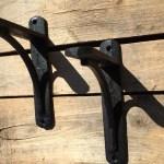 Pair Of Black Cast Iron Shelf Brackets