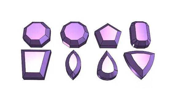 Simple Gems - 3D Model Fi...