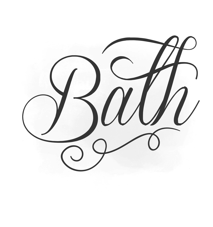 Bath Svg Clipart Bath Sign Svg Bathroom Quote Word Digital