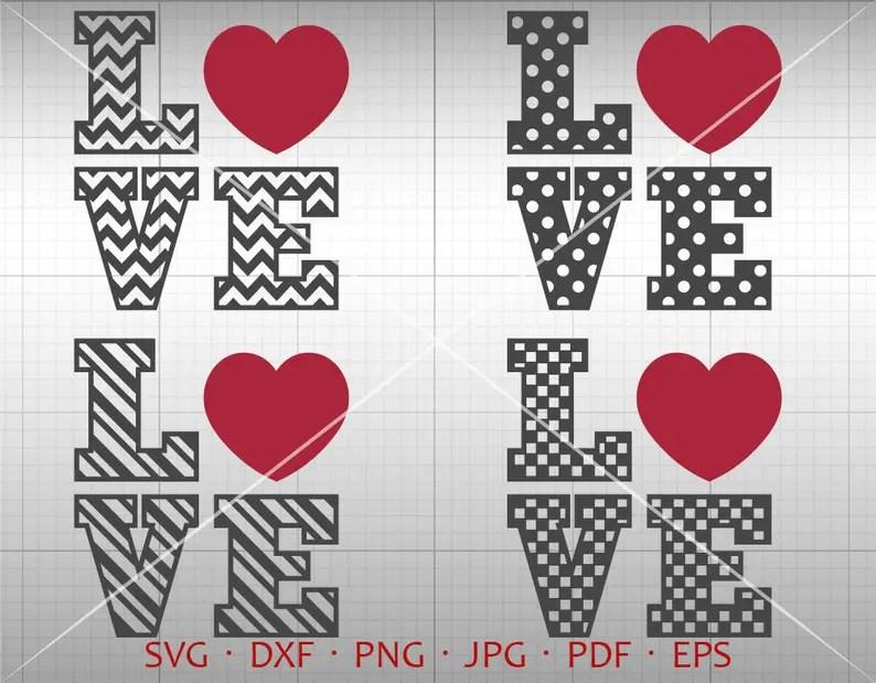 Download Love Svg Valentine SVG Valentine's Day Clipart Chevron | Etsy