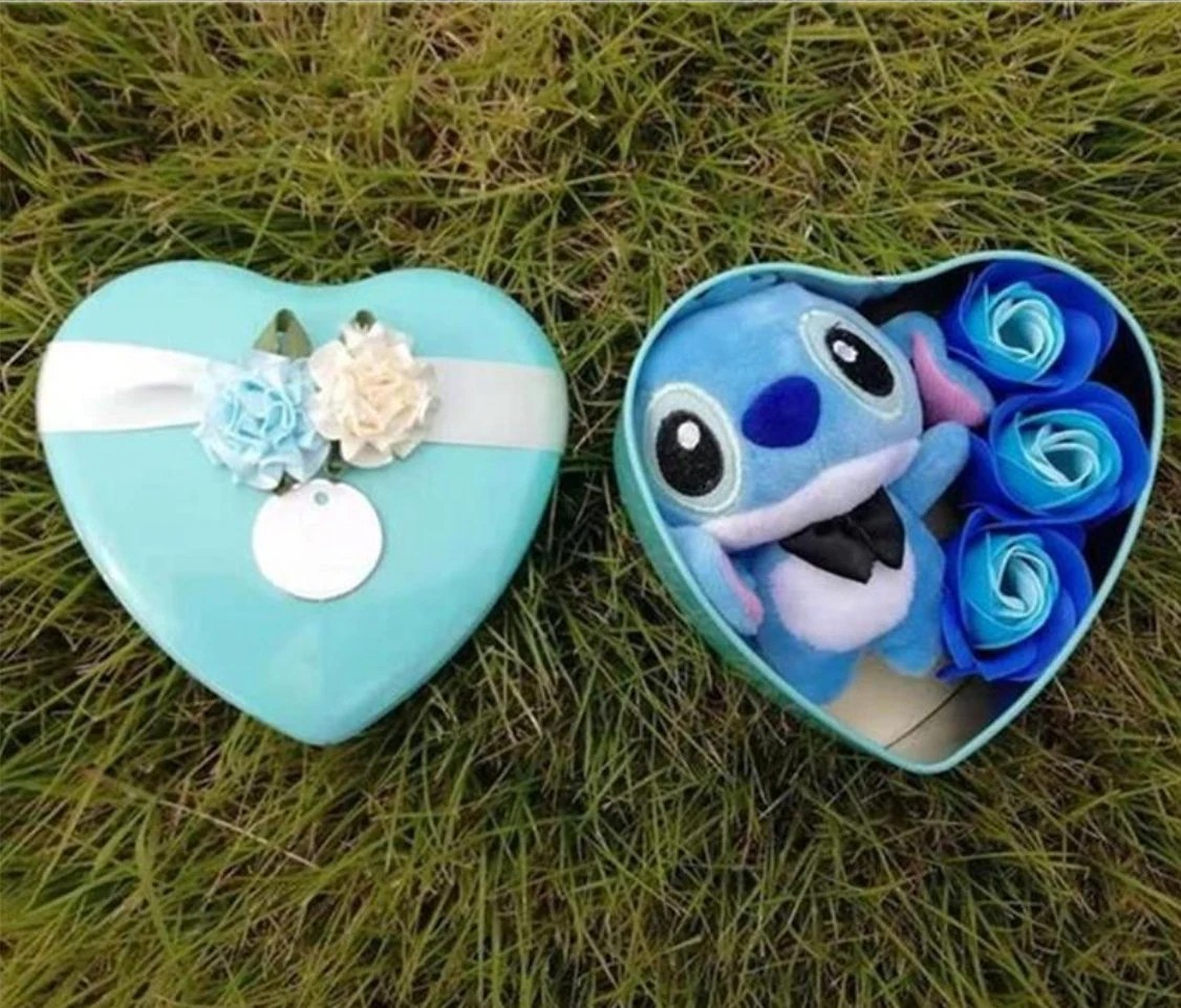 Inspired by disney Handmade lovely stitch plush toys with soap image 2