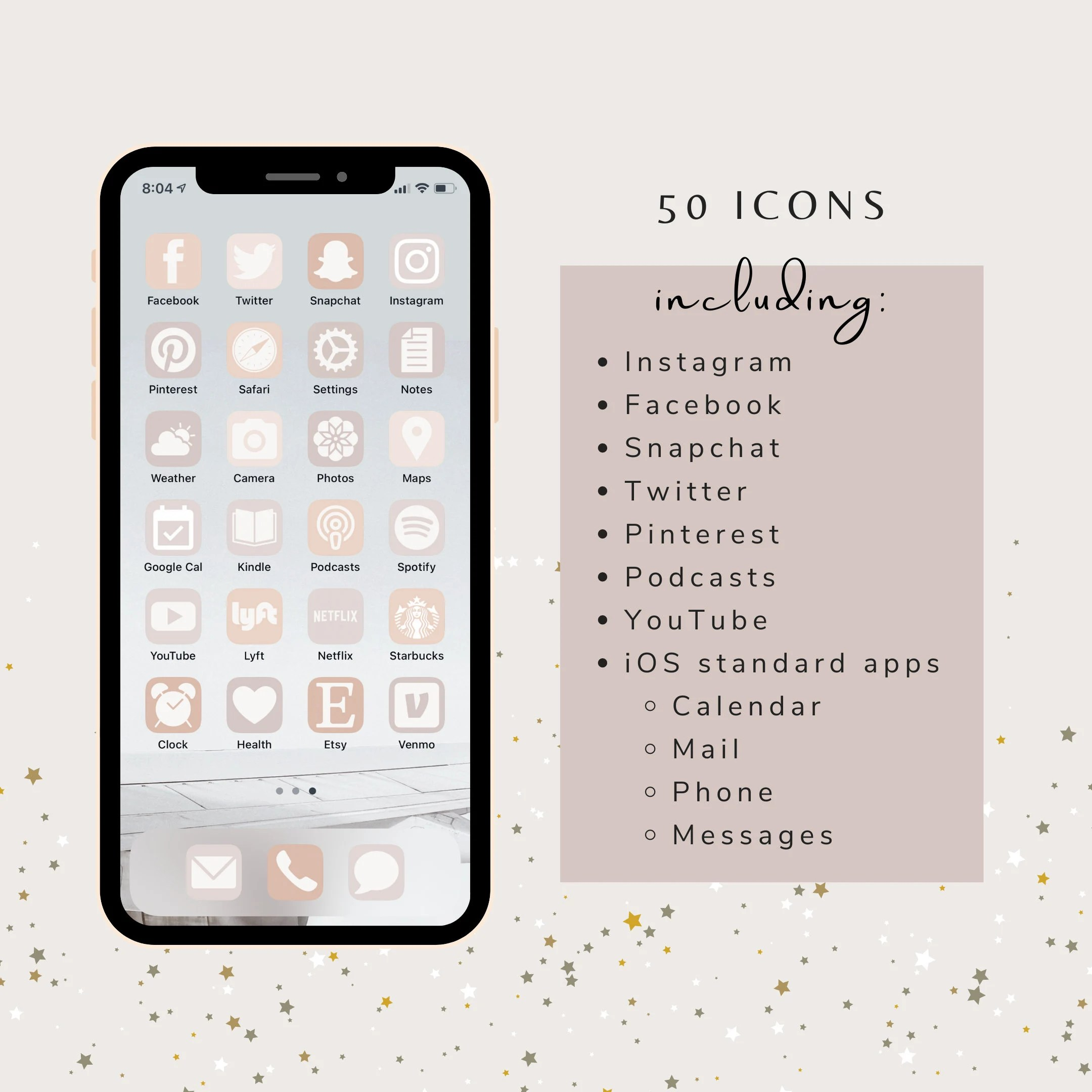If you have been on the hunt for some awesome app icons that are better on aesthetics, then you have landed on a good webpage. Neutral Aesthetic iOS 14 iPhone Icons Multi color simple ...