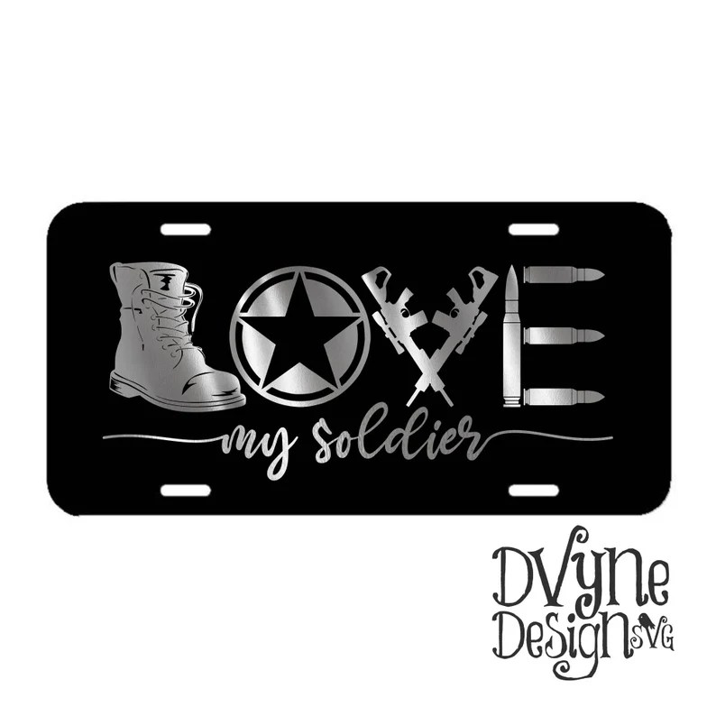 Download Military SVG Love My Soldier SVG for Silhouette or Cricut ...