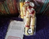 Pair of BLESSED Hand Rolled CANDLES- Beeswax Votive Candles