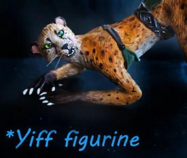 Free Shipping Nude Mature Cheetah Furry Yiff Figurine Nsfw Erotic Figure