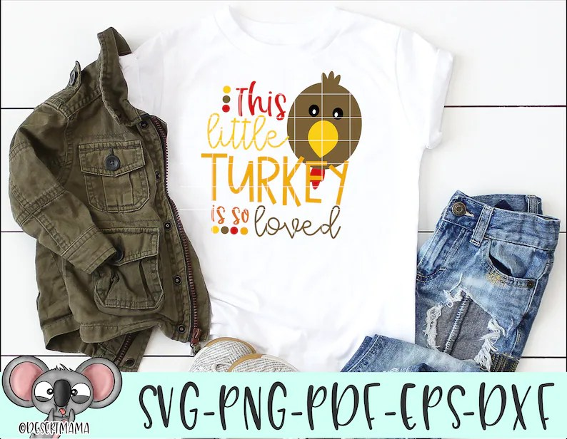 Download This Little Turkey Is So Loved SVG Thanksgiving svg dxf   Etsy