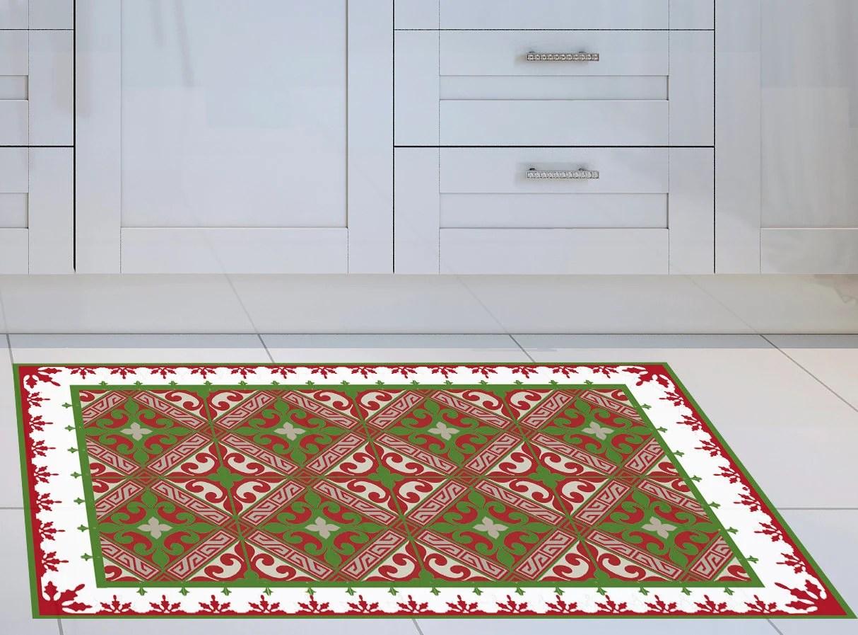 Vinyl Mat Runner Vinyl Floor Christmas Mat Door Mat Or Kitchen Rug Linoleum Rug Art Mat Rug Floor Mat Free Shipping