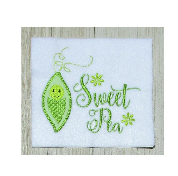 sweet pea embroidery # 68