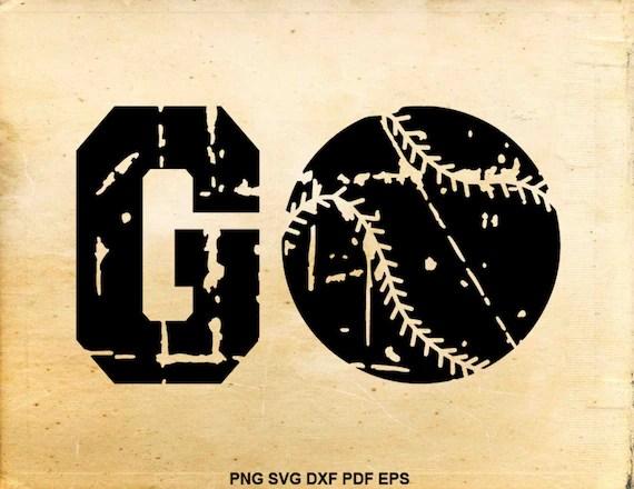 Download Distressed baseball svg file Go baseball clipart Love   Etsy